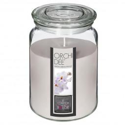 Bougie parfumée pot verre avec couvercle orchidée nina 510g