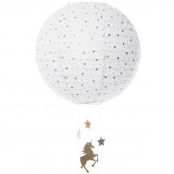 Lanterne boule blanc D35 licorne