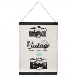 Toile imprimée à suspendre thème vintage 30 x 40 cm