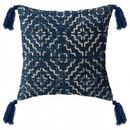 Coussin carré indigo 40x40 cm