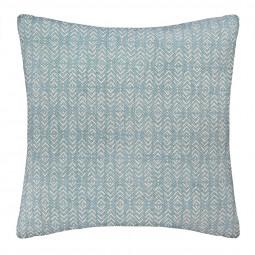 Coussin imprimé blush living bleu 60 x 60 cm