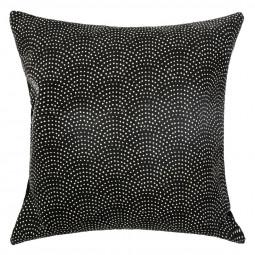Coussin imprimé blush living noir 60 x 60 cm