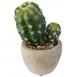 Plante artificielle mini cactus pot en ciment