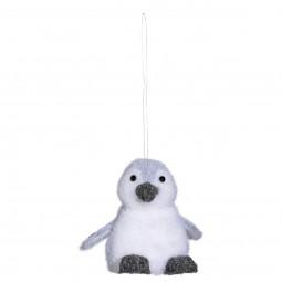 Décoration Sujet de Noël Pingouin debout H 11 cm Un Noël kinfolk