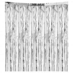 Décoration de Noël Lametta droit Argent brillant 300 brins 50 x 50 cm La maison des couleurs