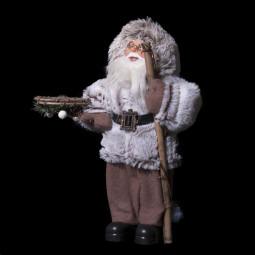 Décoration de Noël Père Noël traditionnel debout H 30 cm  A l'orée des bois