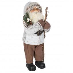 Décoration de Noël Père Noël traditionnel debout H 45 cm  A l'orée des bois