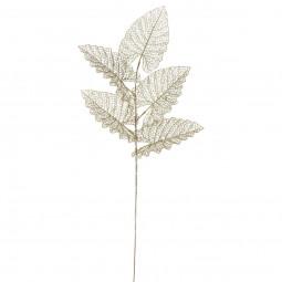 Branche décorative 5 Feuilles ajourées en métal pailleté H 80 cm collection Jungle africa