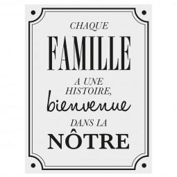 """1 planche sticker déco citation """"famille"""" 30 x 40 cm"""