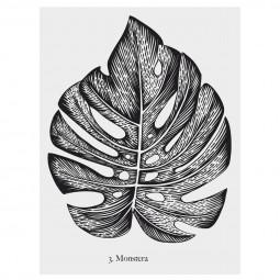 """1 planche sticker déco illustration  """"végétal"""" 30 x 40 cm"""