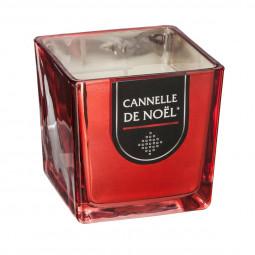 Bougie parfumée Pot en verre Rouge brillant H 8 cm 215G La maison des couleurs