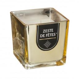 Bougie parfumée Pot en verre Or brillant H 8 cm 215G La maison des couleurs