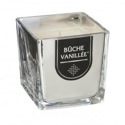 Bougie parfumée Pot en verre Argent brillant H 8 cm 215G La maison des couleurs