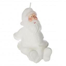 Bougie Blanche Père Noël H 9 cm
