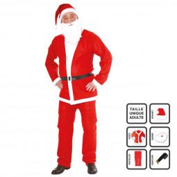 Déguisement de Père Noël 5 pièces en feutrine pour Adulte taille unique Les incontournables