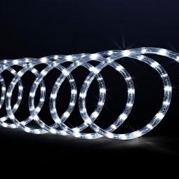 Guirlande d'extérieur Tube lumineux LED Blanc froid  sur 10 Mètres avec 8 jeux de lumière