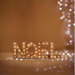 Décoration Intérieur Noël en Bois lumineux 41 LED 44 x 15 cm