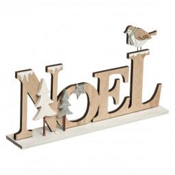 Décoration à poser NOEL lettres en bois 22.5 x 11.5 cm Un Noël kinfolk