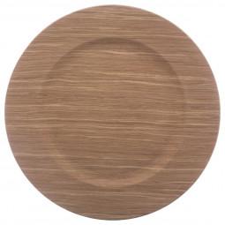 Assiette de présentation ronde effet Bois chaud D 33 cm La maison des couleurs