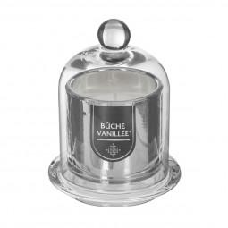 Bougie parfumée Pot en Verre Argent métallisé sous cloche H 13.5 cm La maison des couleurs