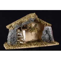 Décoration Crèche de Noël avec mousse et pierres H 18.5 cm