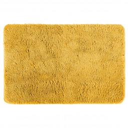 Tapis de bain en microfibre jaune 60X90