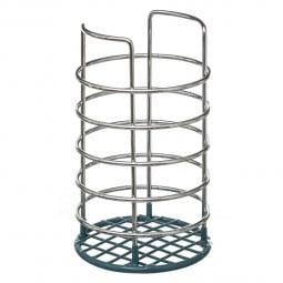 Pot range couvert métal/PVC bleu