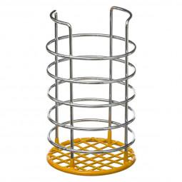 Pot range couverts en métal et PVC jaune