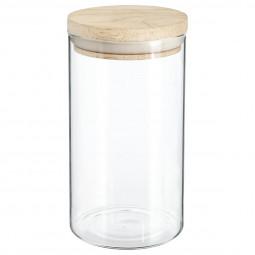 Bocal verre et bois hermétique 1L