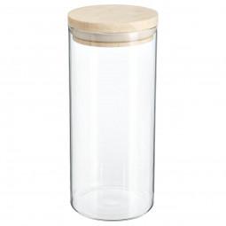 Bocal verre et bois hermétique 1.3l