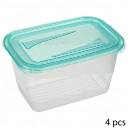 Lot de 4 boites de conservation fresh&freeze 0.75L