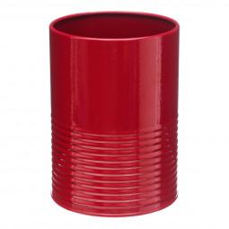 Pot à  ustensiles en métal rouge