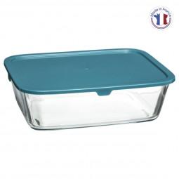 Boite de conservation verre rectangle 1,25l