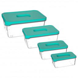 Lot de 4 boites de conservation rectangle san