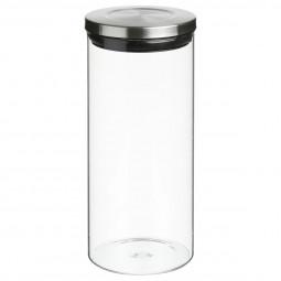 Bocal hermétique en verre et inox 1,3L