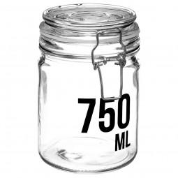Bocal en verre capacité 750 ml