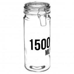 Bocal en verre capacité 1.5 L