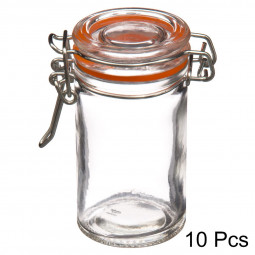 Lot de 10 pots en verre 75ml