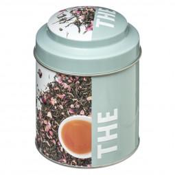 Boite à thé ronde relief