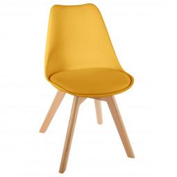 Chaise scandinave jaune baya