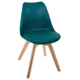 Chaise scandinave bleu pétrole baya