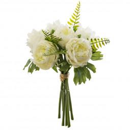 Bouquet de renoncules et fougères h 30 cm