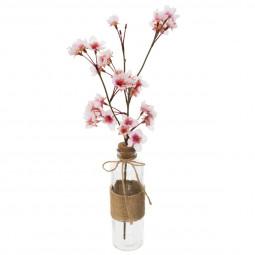 Branche de cerisier dans vase en verre bohemian dream