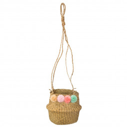 Cache pot suspension avec pompons bohemian dream