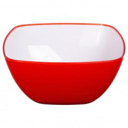 Saladier square rouge 25cm