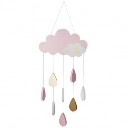 Suspension nuage rose H 57 cm