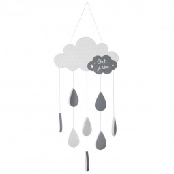 Suspension nuage gris H 57 cm