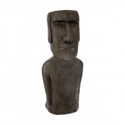 Statue île de pâques en résine h 58 cm