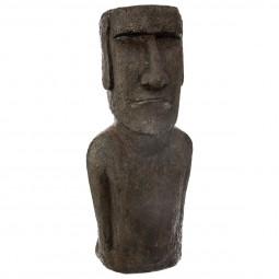 Statue île de pâques en résine h 80 cm