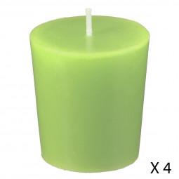 Lot de 4 bougies parfumées kiwi nina
